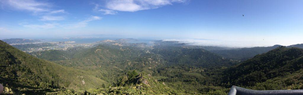 Blick vom Mt. Tamalpais auf San Francisco