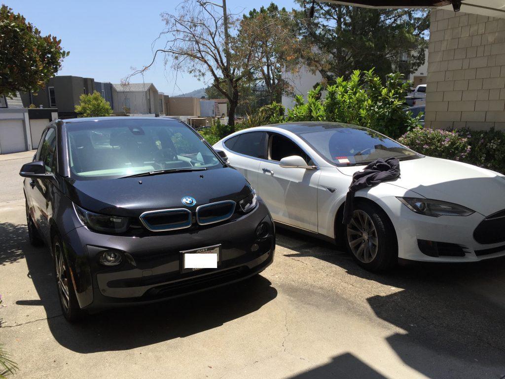 BMW i3 und Tesla Model S